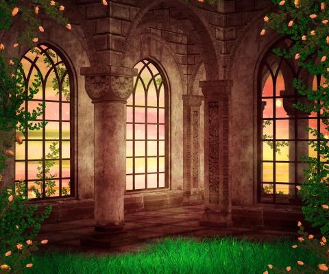 Castle Fantasy Backdrop