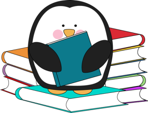 penguin-with-books